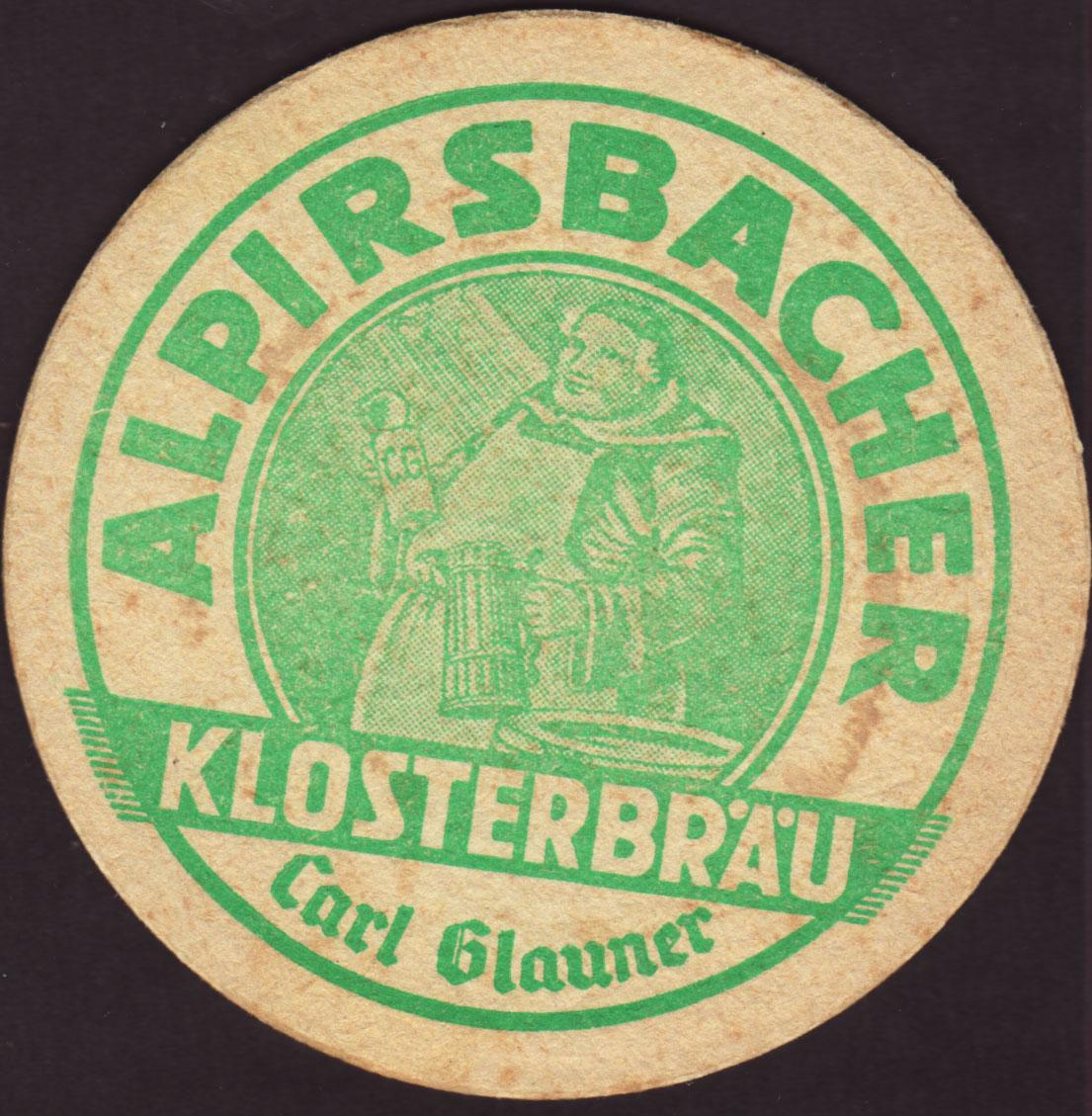 Brewery Alpirsbach Alpirsbach Coaster Number 5 4