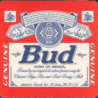 Pivní tácek anheuser-busch-2-oboje