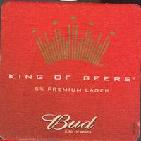 Beer coaster anheuser-busch-22-zadek