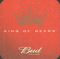 Beer coaster anheuser-busch-72-zadek