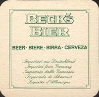 Pivní tácek beck-22-zadek