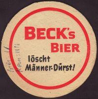 Beer coaster beck-96