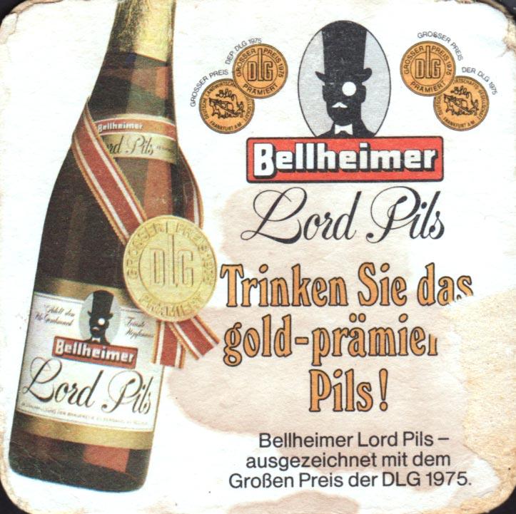 Brewery Bellheimer Bellheim Coaster Number 1 1