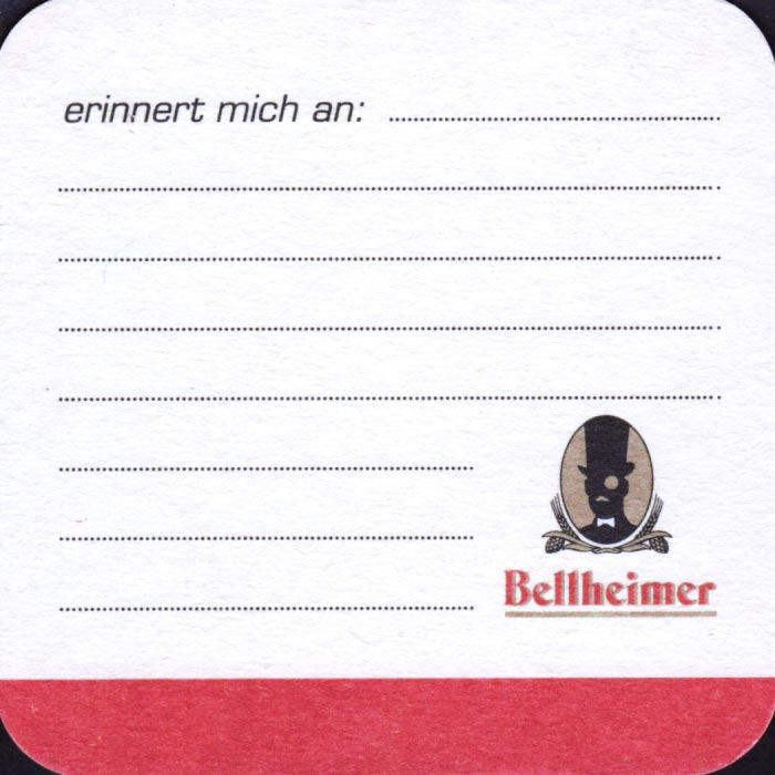 Brewery Bellheimer Bellheim Coaster Number 6 1