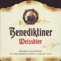 Beer coaster benediktiner-weissbrau-2