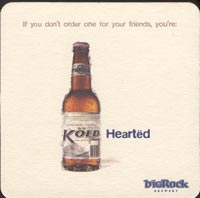Beer coaster big-rock-1