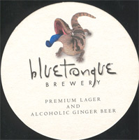 Beer coaster blue-tongue-1