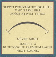 Beer coaster blue-tongue-5-zadek-small