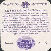 Beer coaster borbecker-6-zadek