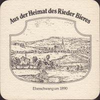 Pivní tácek brauerei-ried-29-zadek-small