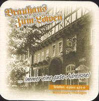 Beer coaster brauhaus-zum-lowen-leo-5-zadek