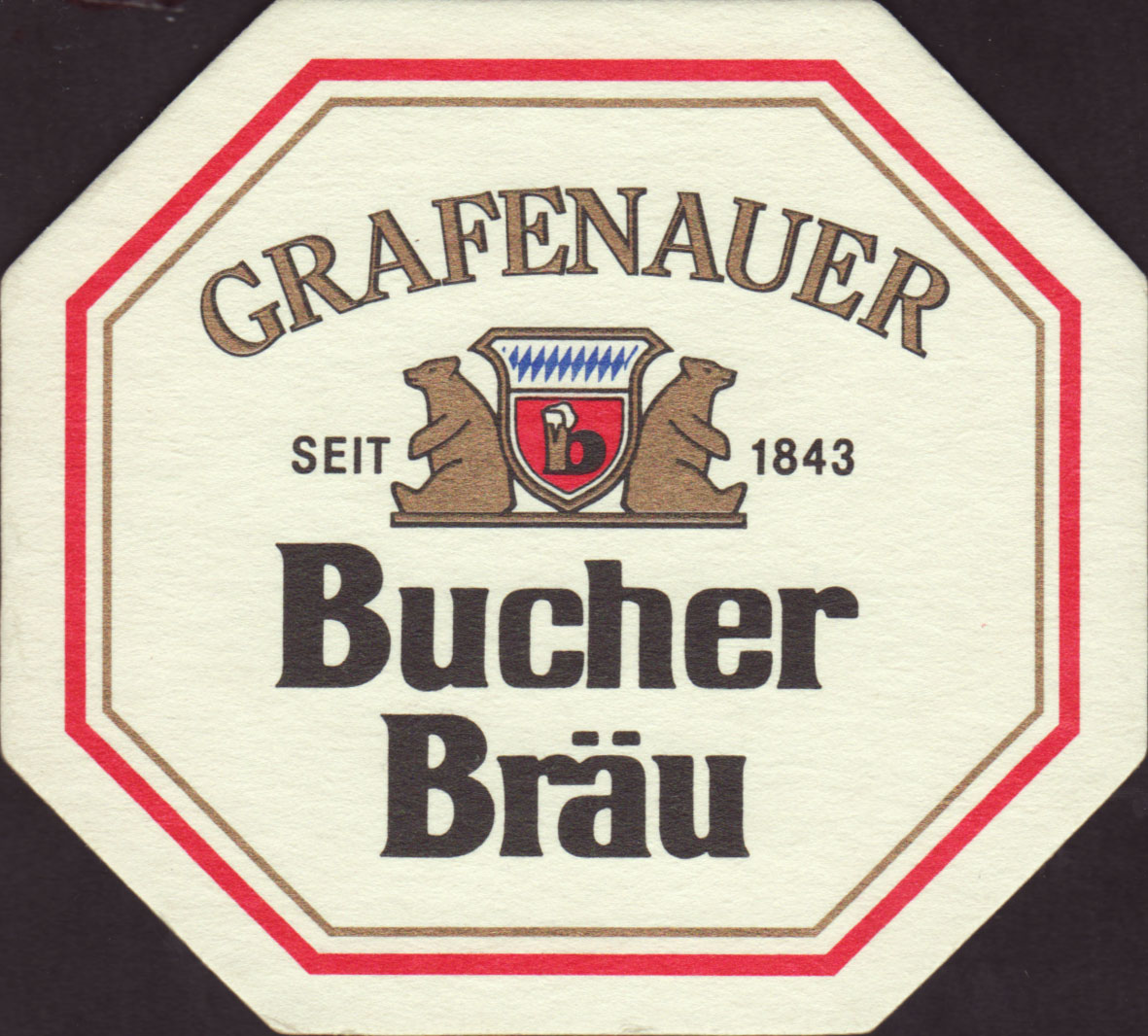 brewery bucher brau grafenau coaster number 3 1. Black Bedroom Furniture Sets. Home Design Ideas