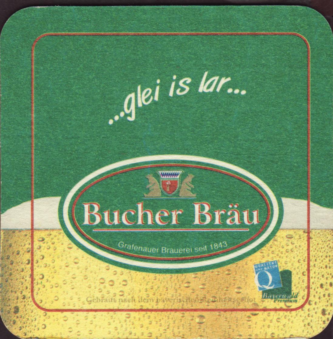 brewery bucher brau grafenau coaster number 4 1. Black Bedroom Furniture Sets. Home Design Ideas
