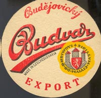 Beer coaster budvar-13