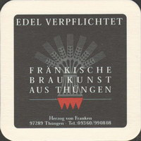 Pivní tácek burgbrauerei-thungen-1-zadek-small