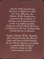 Pivní tácek charles-wells-7-zadek