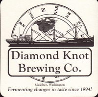 Beer coaster diamond-knot-1