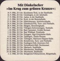Beer coaster dinkelacker-44-zadek