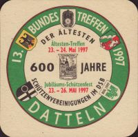 Beer coaster dortmunder-union-46-zadek