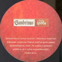 Beer coaster gambrinus-10-zadek