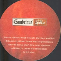 Beer coaster gambrinus-12-zadek