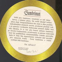 Beer coaster gambrinus-13-zadek