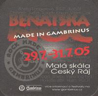 Pivní tácek gambrinus-32-zadek