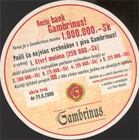 Beer coaster gambrinus-38-zadek