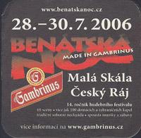 Pivní tácek gambrinus-40-zadek