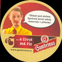 Beer coaster gambrinus-46-zadek
