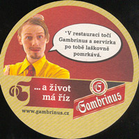 Beer coaster gambrinus-49-zadek