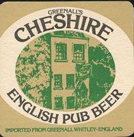 Pivní tácek greenall-whitley-3-zadek