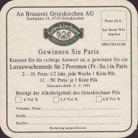 Pivní tácek grieskirchen-51-zadek-small