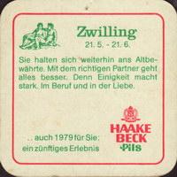 Pivní tácek haake-beck-24-zadek-small
