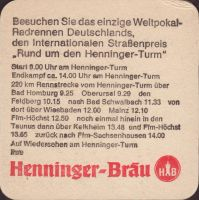 Beer coaster henninger-78-zadek