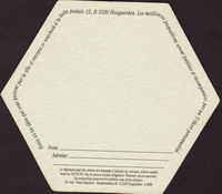Pivní tácek hoegaarden-392-zadek-small