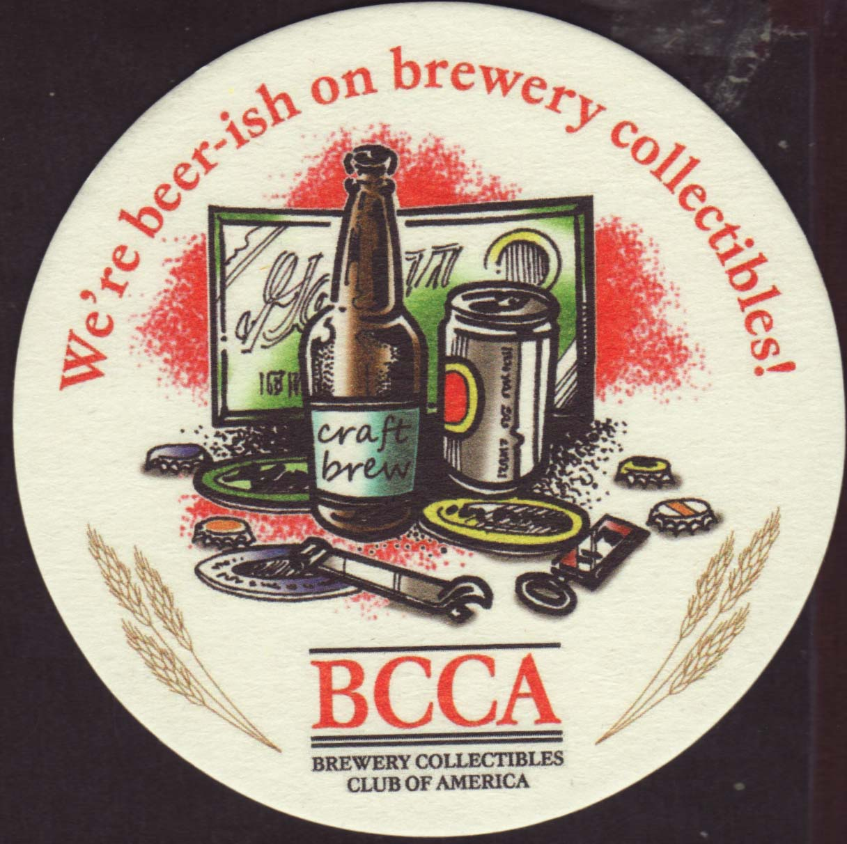 Mat BCCA BREWERY COLLECTIBLES CLUB OF AMERICA beer COASTER