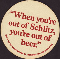 Beer coaster jos-schlitz-5-zadek-small