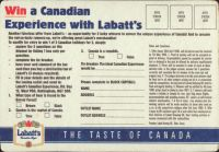 Beer coaster labatt-109-zadek-small