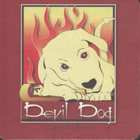 Beer coaster laughing-dog-3