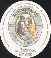 Pivní tácek lindenbrau-am-potsdamer-platz-1