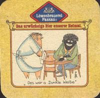 Beer coaster lowenbrauerei-passau-1-zadek