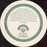 Pivní tácek mauritius-brauerei-zwickau-2-zadek