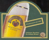 Pivní tácek mauritius-brauerei-zwickau-5-zadek