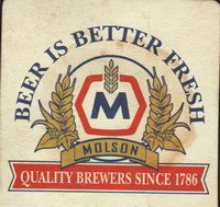 Beer coaster molson-103