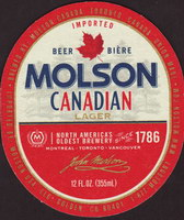 Beer coaster molson-70