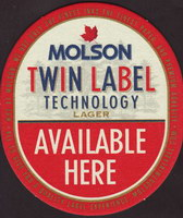 Beer coaster molson-70-zadek-small