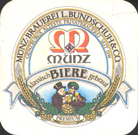 Beer coaster munz-brauerei-bundschuh-1