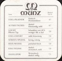 Beer coaster munz-brauerei-bundschuh-2-zadek-small