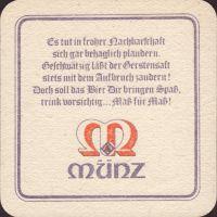 Beer coaster munz-brauerei-bundschuh-3-zadek-small
